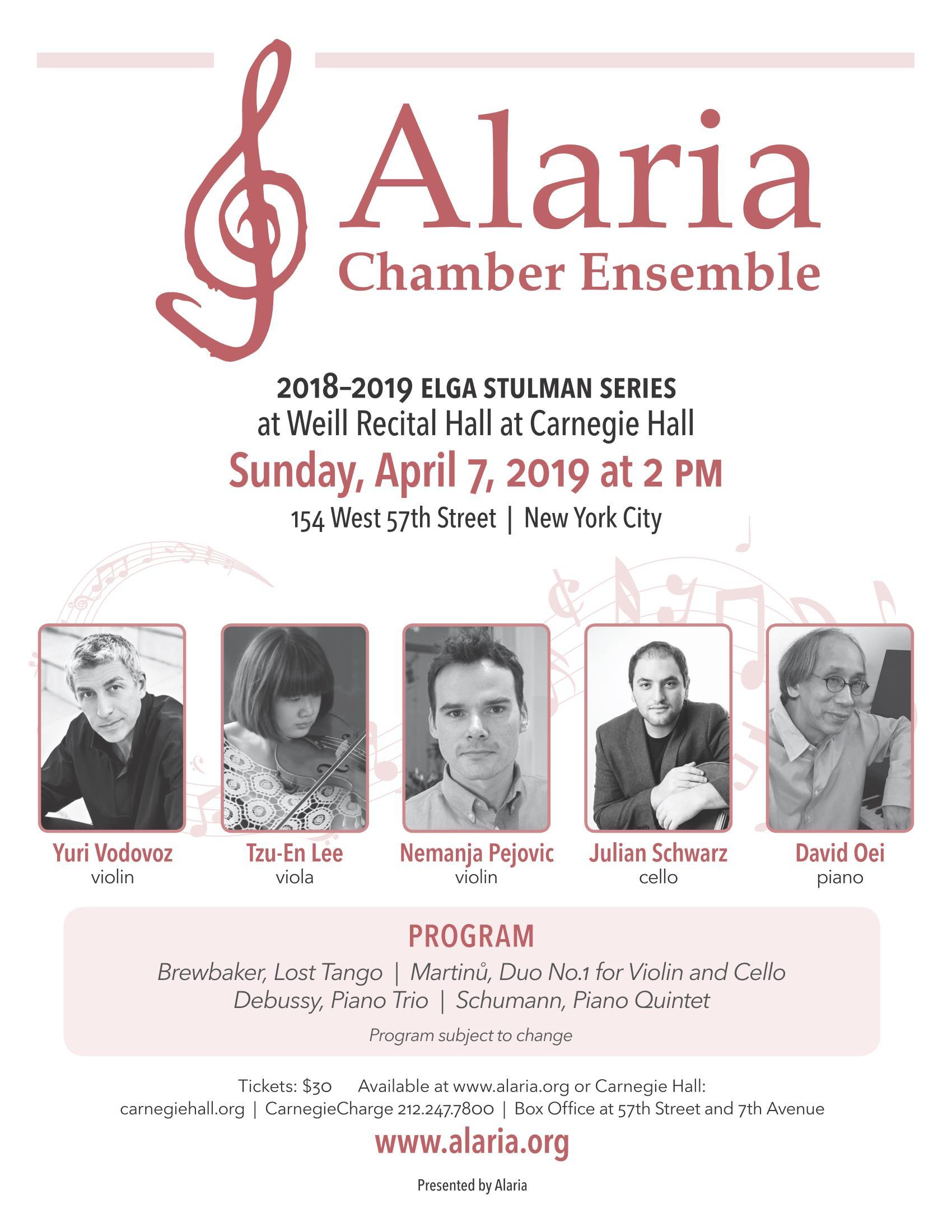 alaria april concert